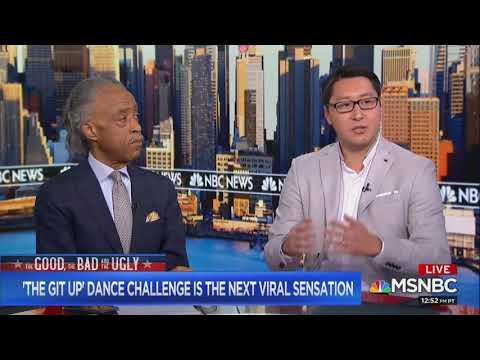 Ken Andrews - Kurt Bardella On Blanco Brown The Git Up Challenge on MSNBC