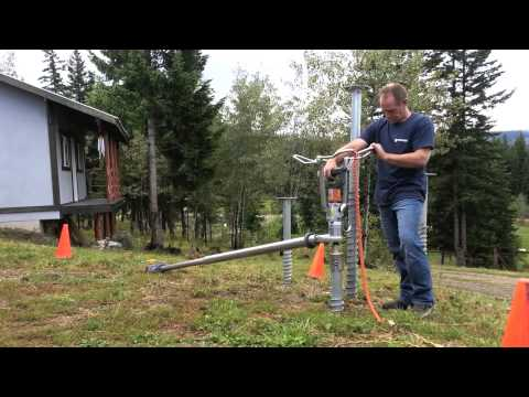 Krinner Ground Screw Demo