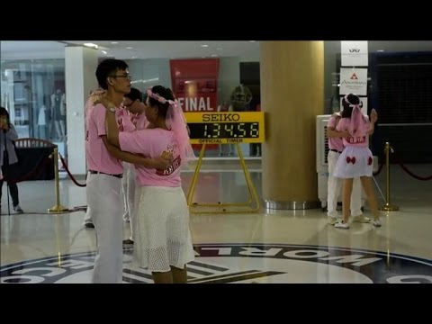 Couples unite for Thailand 'dance marathon'