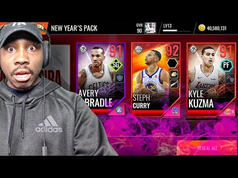 91 OVR SERIES 2 CLOCKSTOPPERS IN NEW YEARS PACK OPENING! NBA Live Mobile 18 Ep. 27