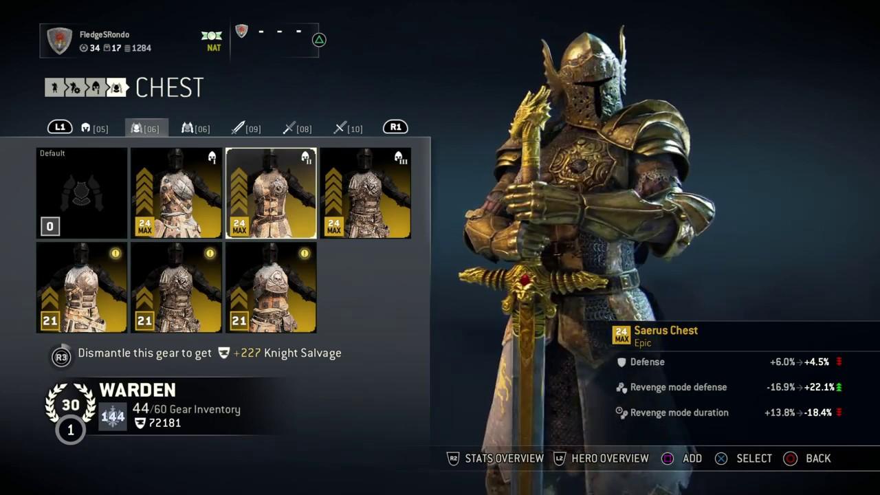 Build Lawbringer For Honor Prestige