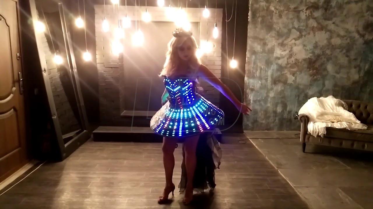Corset Visual LED dress - YouTube