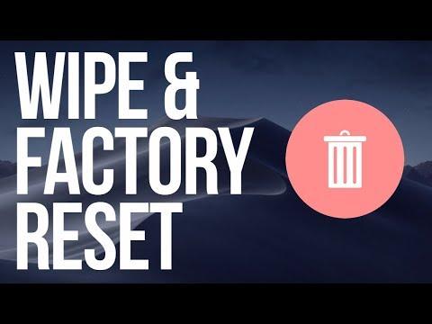 How to factory reset my macbook pro 2020