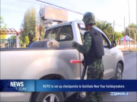 NCPO to set up checkpoints to facilitate New Year holidaymakers
