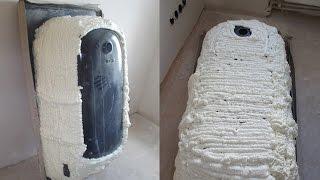Шумоизоляция стальной ванны своими руками видео