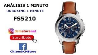 FS5210 Fossil Revisión 1 Minuto Unboxing 1 Minute
