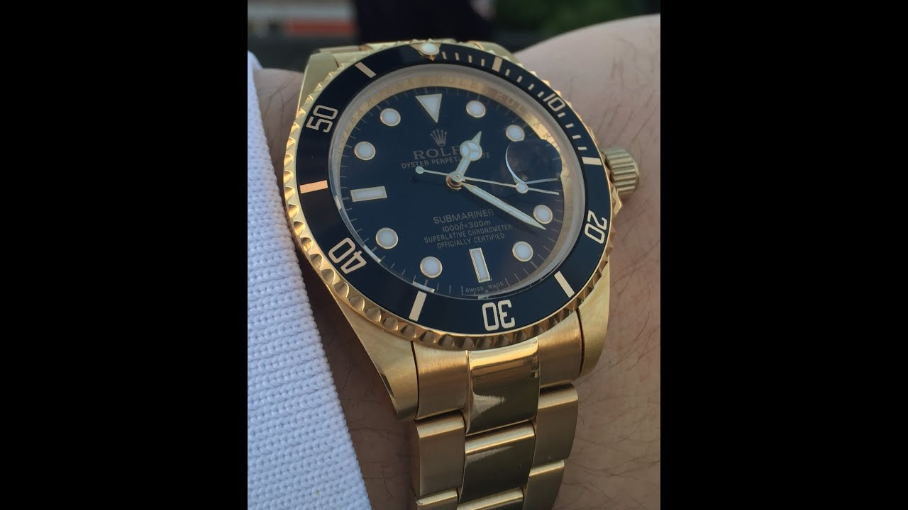 Rolex Submariner De Oro