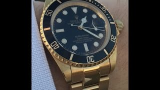 rolex submariner oro 18k .. gold..