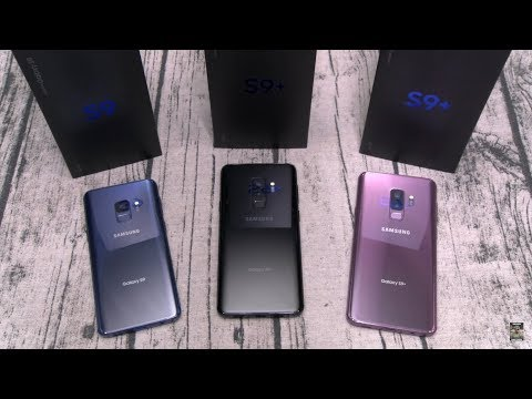 Samsung Galaxy S9 And S9 Plus Unboxing - All 3 Colors