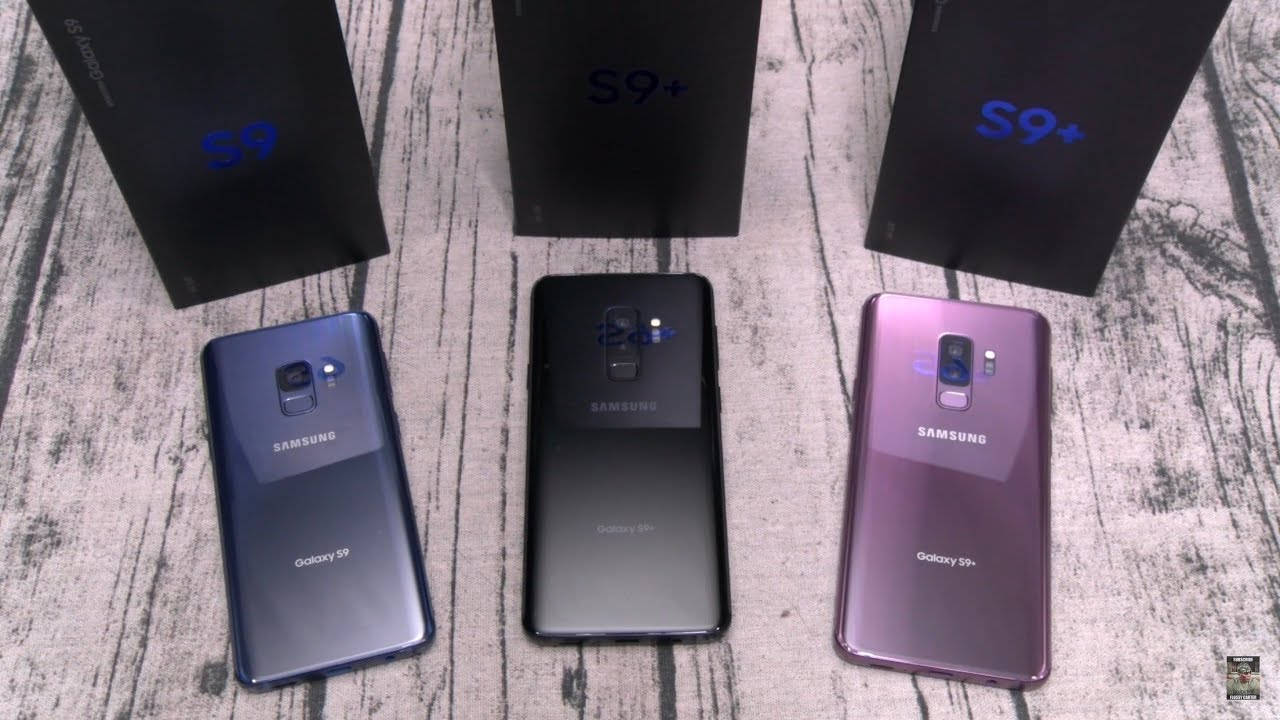 Samsung Galaxy S9 and Samsung Galaxy S9 Plus - Unpacking all 3 colors
