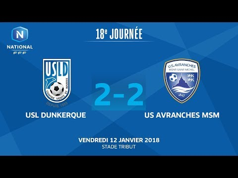 J18 : USL Dunkerque - US Avranches MSM (2-2), le replay