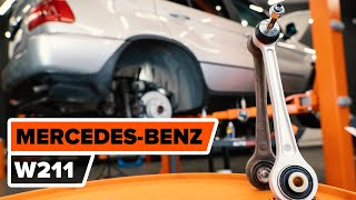 How to change rear suspension arm on MERCEDES-BENZ W211 E-Class [TUTORIAL AUTODOC]
