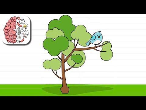 Как пройти Brain Test 83 уровень Птичка проспала. Попробуй встряхнуть дерево.