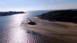 Bretagne - côte d'armor - beg leguer - lannion by drone