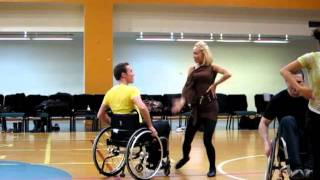 Iveta Lukosiute & Gherman Mustuc rehearsing for a Movie