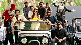 Ajay Devgan,Madhuri Dixit & Arshad Warsi Grand Entry At The Trailer Launch Of Total Dhamaal
