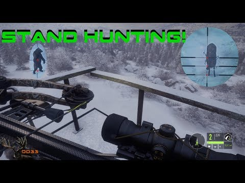 CrossBow Hunting From a STAND!! Call of the Wild THEHUNTER 2018