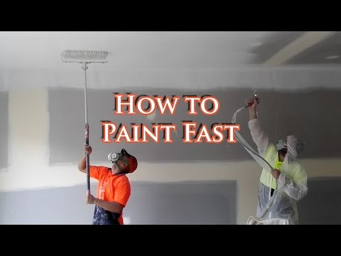 save time painting a house with an airless spray gun. Black Bedroom Furniture Sets. Home Design Ideas