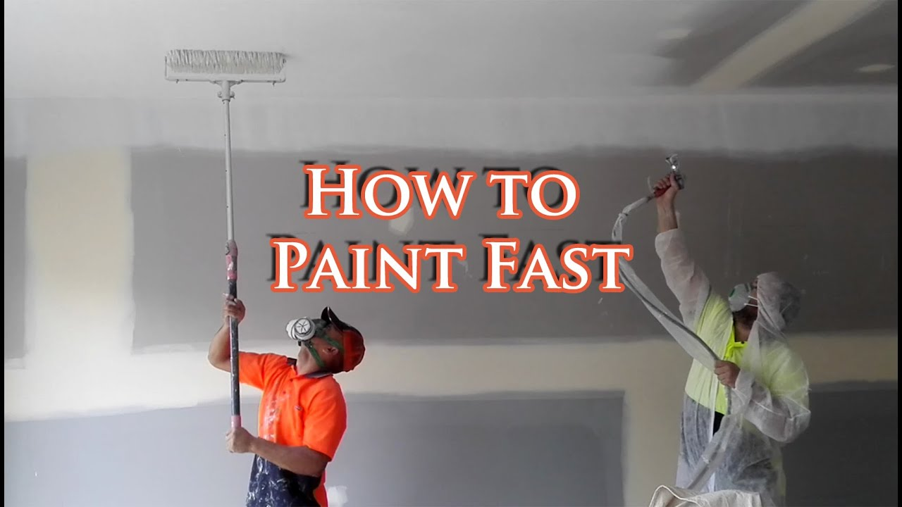 how to paint a ceiling with a spray gun