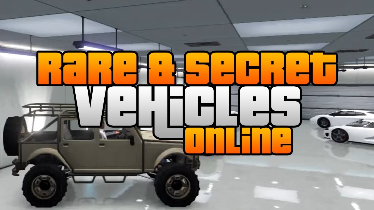 Gta 5 Rare Secret Vehicles Online Rare Secret Cars Online