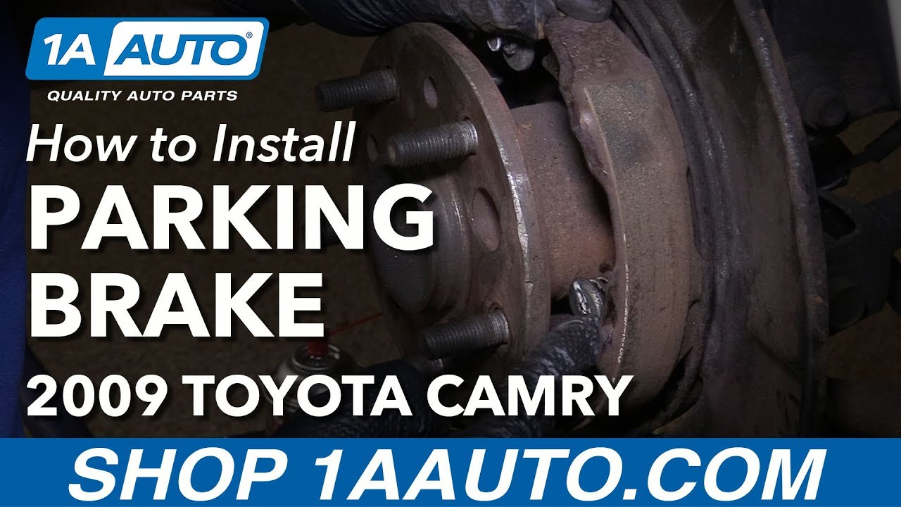 how to replace parking brake shoes and hardware 06 11 toyota camry [ 1280 x 720 Pixel ]