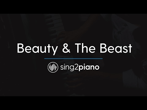 Beauty & The Beast (Piano Karaoke Instrumentals) Ariana Grande & John Legend