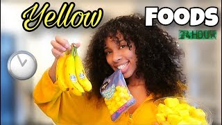 I ONLY ATE YELLOW FOODS FOR 24 HOURS CHALLENGE!! | TAYPANCAKES