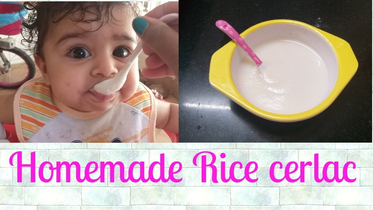6month baby food  How to make made RICE cereal  Homemade ...