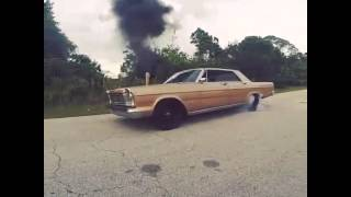 1965 Ford Galaxie 12 valve Cummins burnout (MeehansAutomotive)