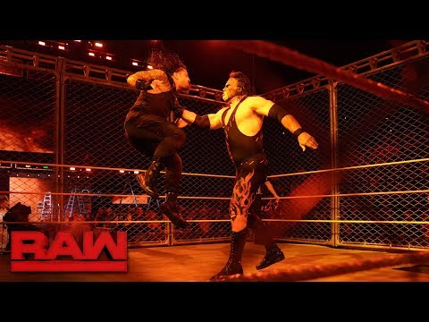 Thumbnail: Kane Returns; Roman Reigns vs. Braun Strowman - Steel Cage Match: Raw, Oct. 16, 2017