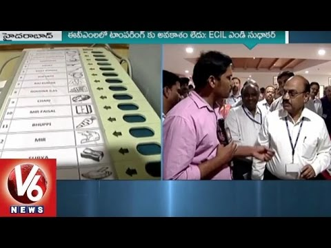 ECIL MD Sudhakar Face to Face | No Chance of Tampering with EVM | V6 News