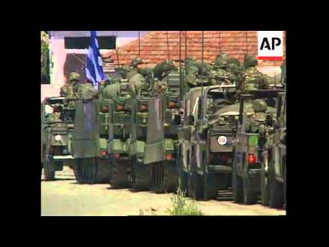 ALBANIA: DURRES: GREEK & ITALIAN SHIPS CARRYING SOLDIERS DOCK