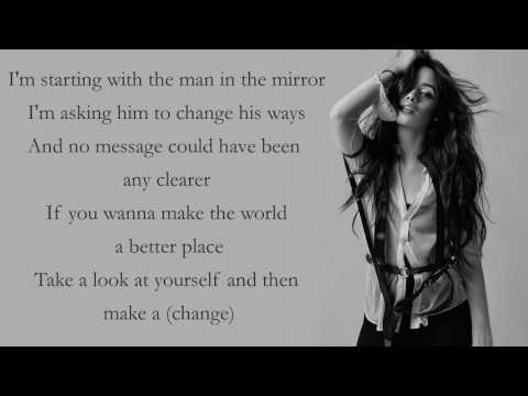 Camila Cabello - Man In The Mirror [Lyrics][Michael Jackson Cover]