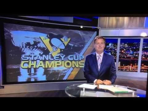 News reporter loses his cool - Pittsburgh Penguins - KDKA CBS - Bob Allen - Pittsburgh Penguins win