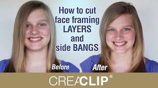 How to cut face framing LAYERS and side BANGS