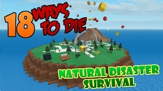 18 WAYS TO DIE in Natural Disaster Survival (ROBLOX)