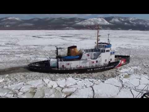 USCGC Thunder Bay Breaking Ice