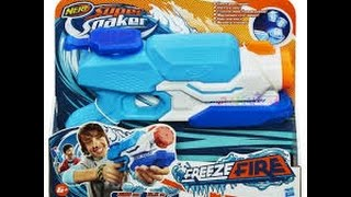 Unboxing the Freeze Fire Nerf gun!!!