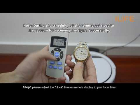 How to use the schedule mode of the vacuum  ILIFE V3s Robot Vacuum