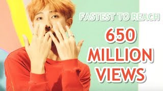 FASTEST K-POP GROUP MV TO REACH 650 MILLION VIEWS