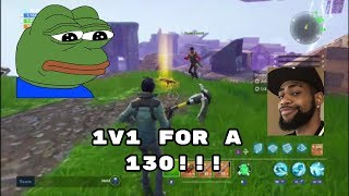 1v1 for a free 130 Weapon!!! (Fortnite Save the World) (Fortnite Battle Royale)