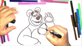 masha and the bear drawing
