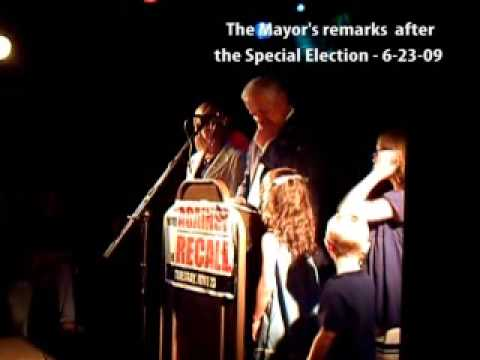 PT. 2 - Mayor Don Plusquellic - remarks after special election 06-23-09