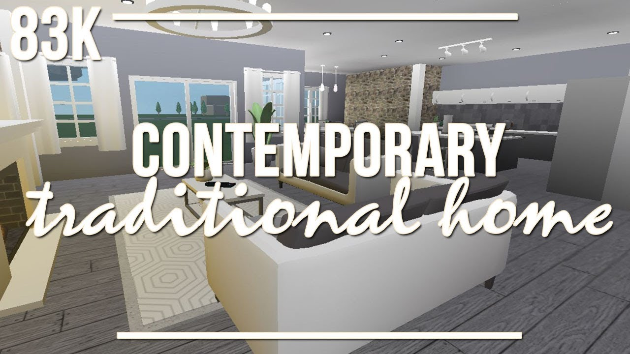 ROBLOX Welcome To Bloxburg Contemporary Traditional Home 83k