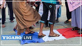 🔴 Libye: des manifestants brûlent des portraits de Macron et un drapeau de la France