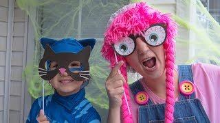 Disfraz de Halloween Cat Boy para niños DIY S3:E176