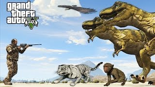 HUNTING EXTREMELY RARE ANIMALS!! (GTA 5 Mods)