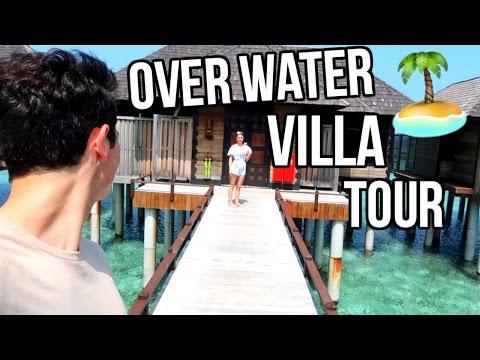 OVER WATER VILLA TOUR! MALDIVES!