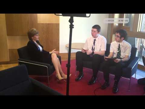 Nicola Sturgeon - Full Interview | BBC News School Report 2015 | Hawick High News