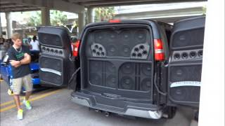 making noise at v2lab car meet in downtown orlando
